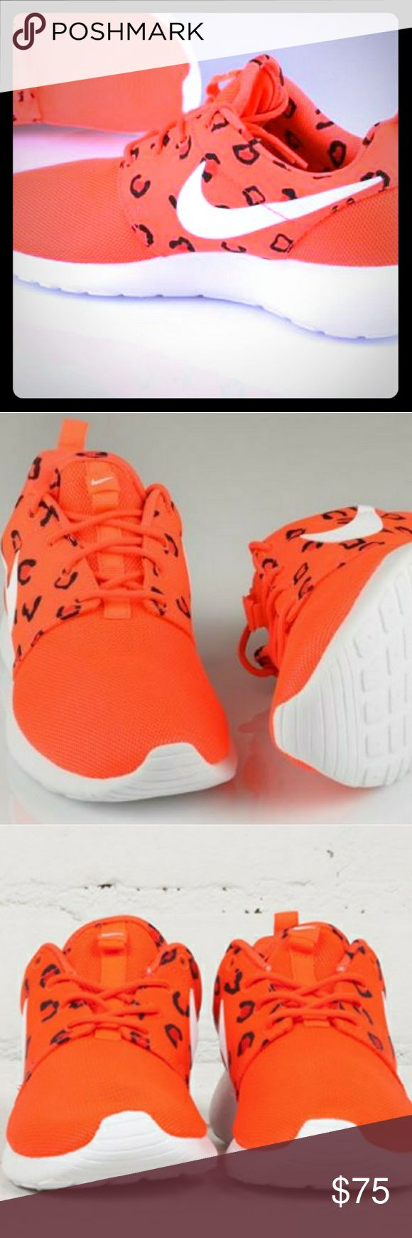 🔥NEW🔥 Women's NIKE ROSHE ONE Print Sz 10 NWOB Women's NIKE ROSHE ONE Print  *CHEETAH PRINT* Size: Women's 10/Men's 8.5 Color: Orange Cheetah Print  NOT WORK Nike Shoes Athletic Shoes
