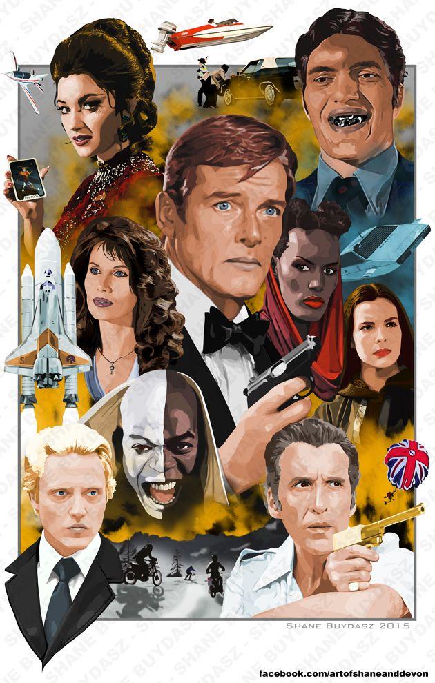 Roger Moore's James Bond by artofshaneanddevon.deviantart.com on @DeviantArt