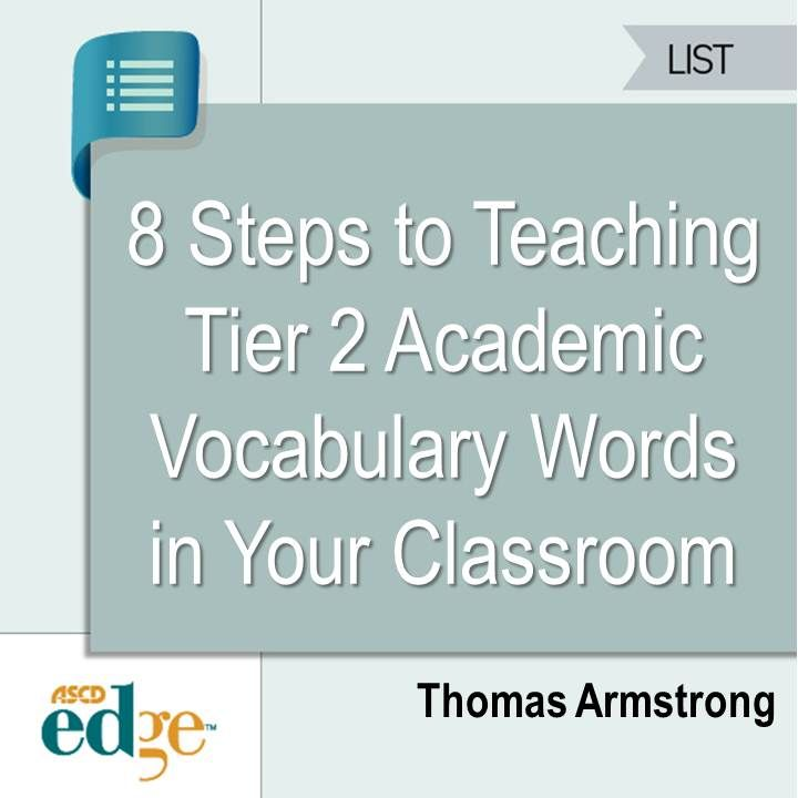 The Common Core has made the learning of frequently used academic vocabulary words a top priority in their focus on creating standards in the public schools. This ASCD Edge blogger shares an 8-step plan to teaching Tier 2 academic vocabulary in any classroom.