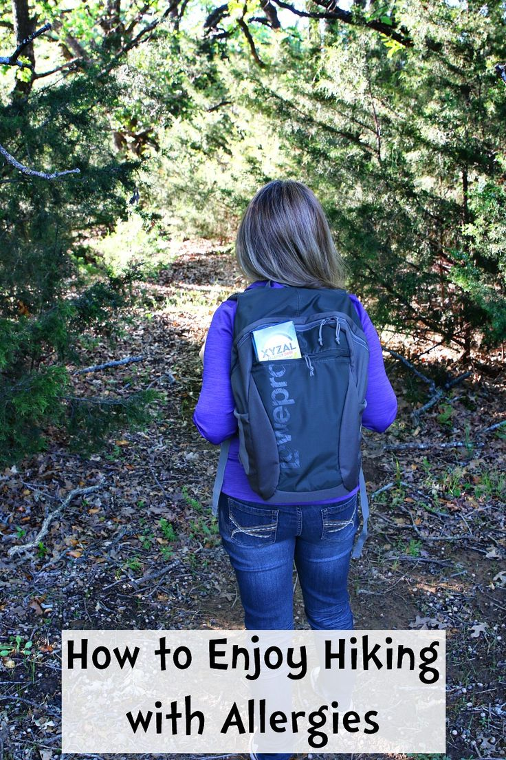 How to Enjoy Hiking with Allergies. We love exploring the outdoors. Camping and hiking is one of our favorite pastimes. Unfortunately, I suffer from seasonal allergies and often times when visiting a new destination I never know when my allergy symptoms will strict. Find out how I prepare to enjoy each season on a hike.  #ForgetAllergies AD