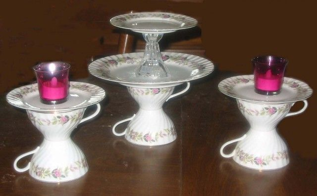 Recycled ChinaGardens Ideas, Crafty Stuff, Crafts Ideas, Recycle China, Upcycling China