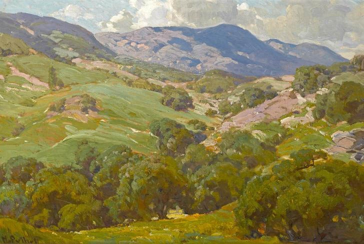 Painting by Hanson Puthuff (1875-1972), California Impressionist