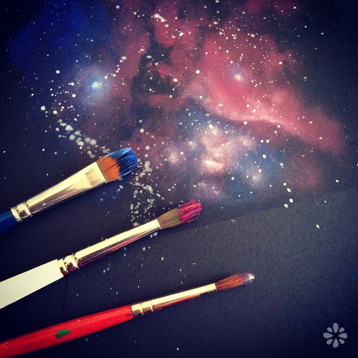 Galaxy Painting Tutorial...doing this with my design and wine travesty