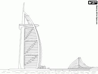Burj al Arab, Dubai coloring pages | ... on an artificial ...