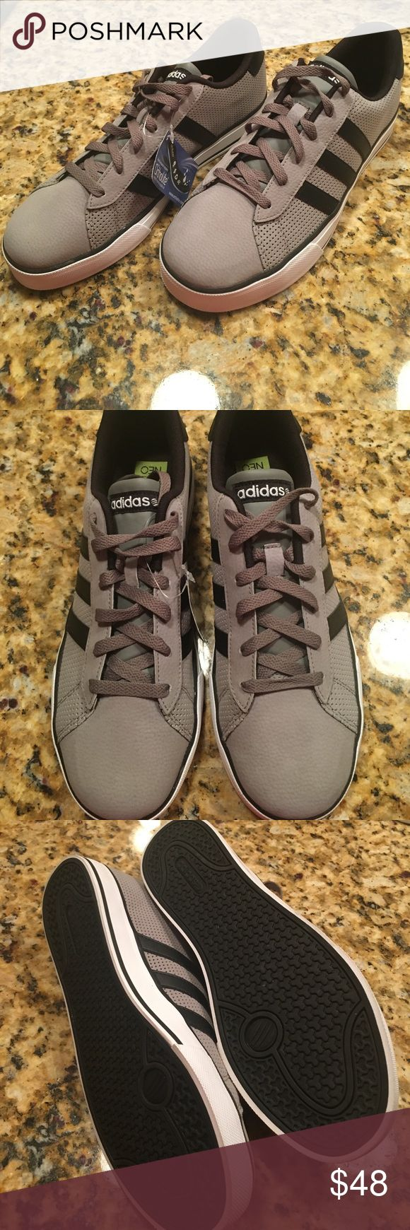 Men's Adidas sneakers 9.5 NWT Brand New Men's Adidas NEO ortholite sneakers size 9.5. Colored grey and black with perforated sides. No box. Adidas Shoes Sneakers