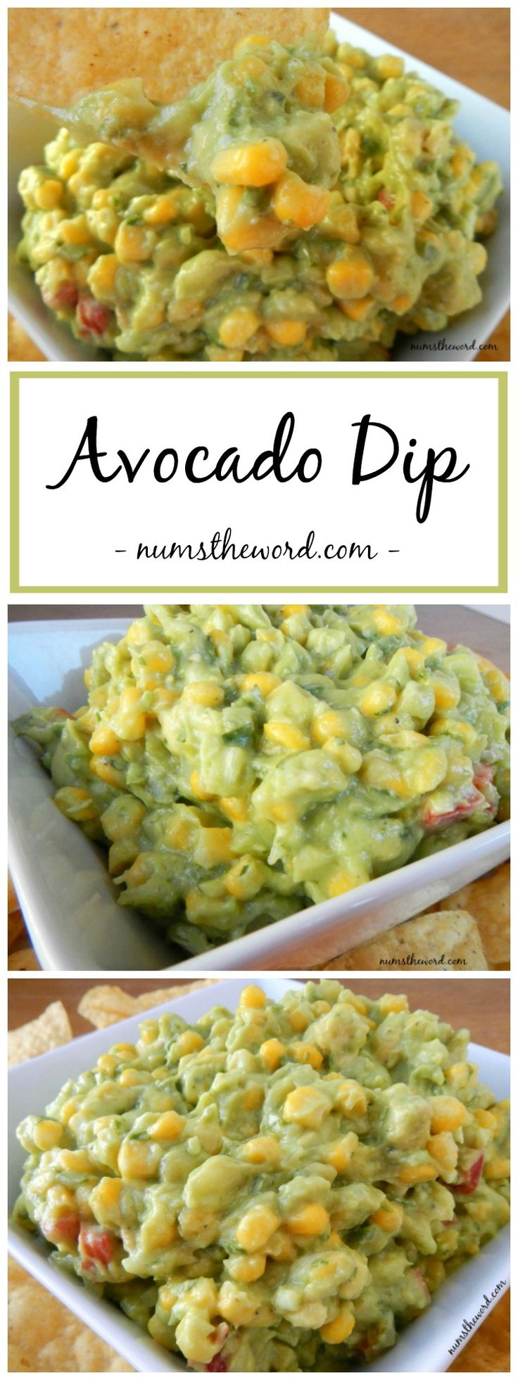 This Avocado Dip is hands down my new favorite go-to snack. Tasty Avocado and sweet corn and cilantro give this a sweet & tasty flavor! Great as a dip or topping to your favorite dish!