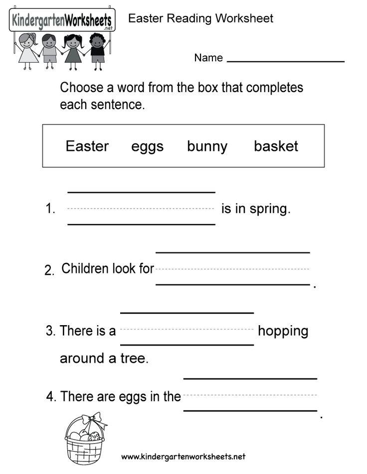 13 best Easter Worksheets images on Pinterest | Easter worksheets ...