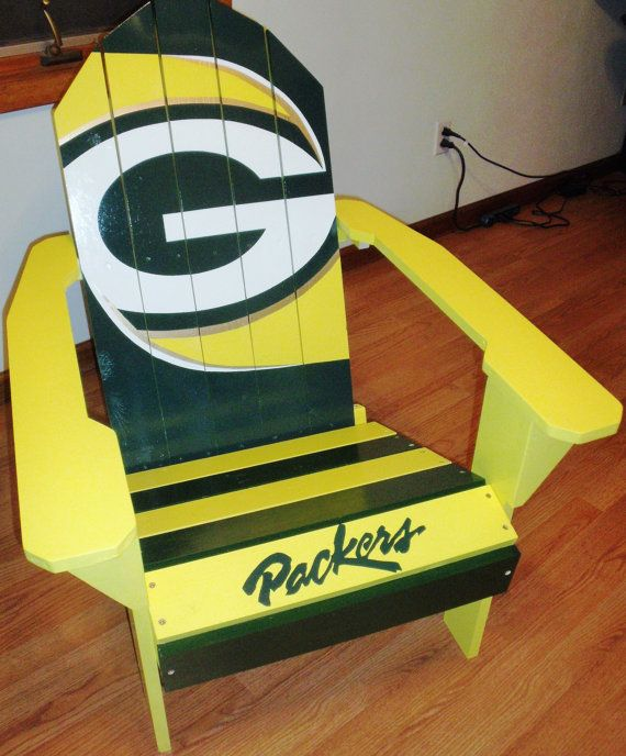 green bay packers chair black velvet nz 418 best adirondack chairs images on pinterest | woodworking, armchairs and benches