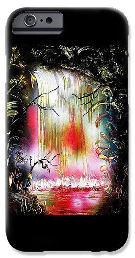 Dream Waterfall IPhone 6 Case Printed with Fine Art spray painting image Dream Waterfall by Nandor Molnar (When you visit the Shop, change the orientation, background color and image size as you wish)