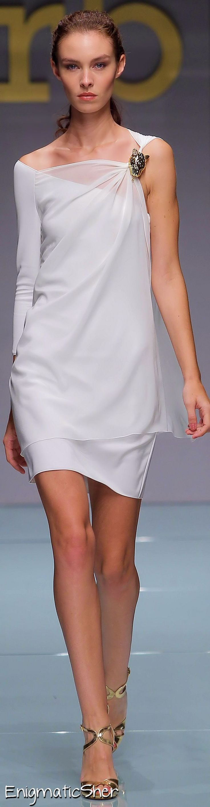 Rocco Barocco Collection ~ Mini Dress, Lilac, Spring 2015 - elegant - www.seacruisevilla.com