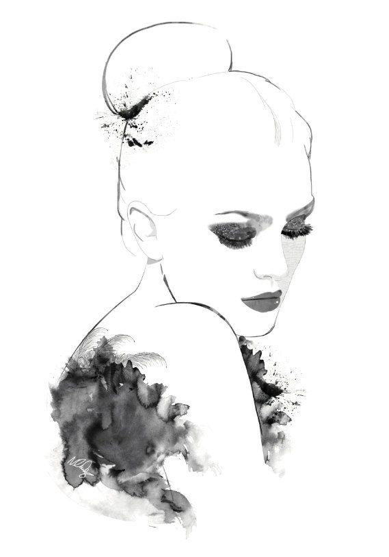 My watercolour lady illustration