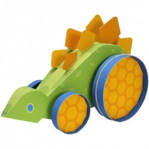 Download Elastic-powered Stegosaurus Papercraft Model  - rubber band powered!