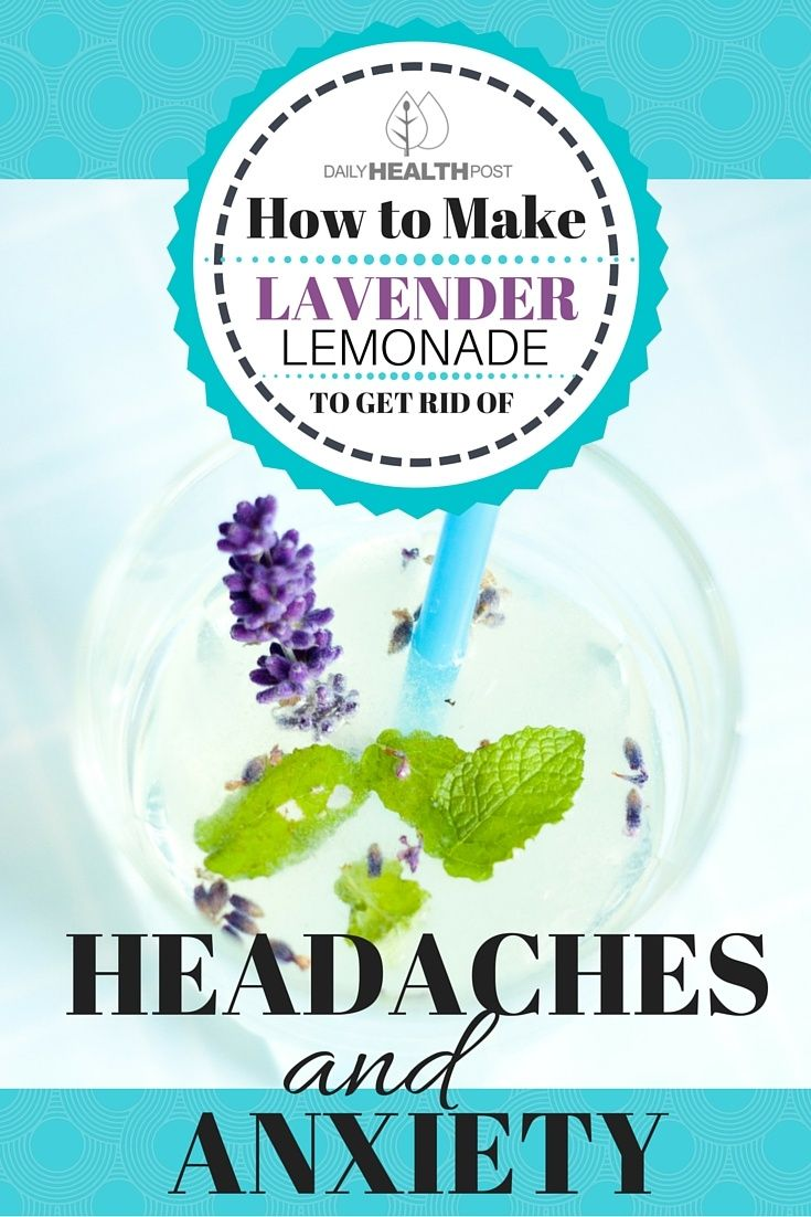 How to Make Lavender Lemonade to Get Rid of Headaches and Anxiety via @dailyhealthpost