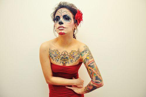 Sugar Skull: Faces Art, Gifts Cards, Halloween Costumes, Costumes Parties, Of The, Calavera Catrina, Sugar Skull Makeup, Dead, Day