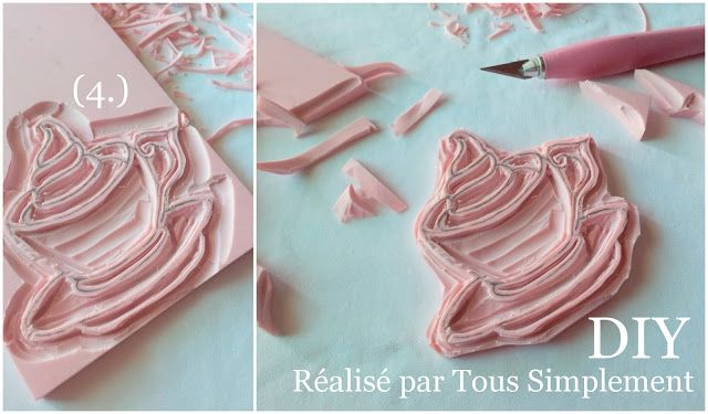 { DIY,  Timbri fatti a mano }by Tous Simplement