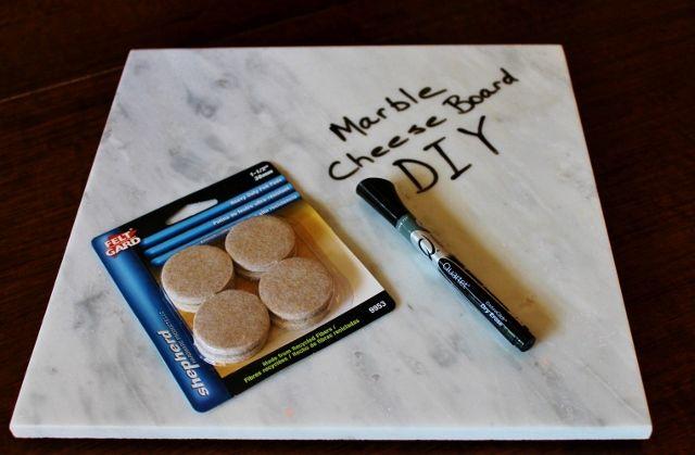 Marble Cheese Board DIY via Leslie Reese