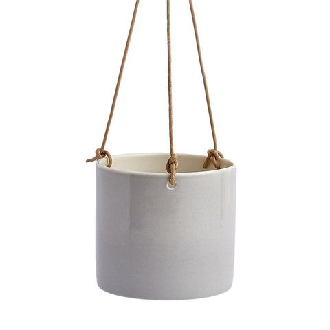Anne Black handmade Grow hanging pot concrete grey
