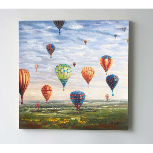 Phil Bee Interiors Hot Air Balloons Oil Painting