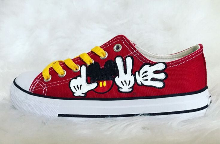 A personal favorite from my Etsy shop https://www.etsy.com/listing/591318073/mickey-mouse-shoes-mickey-mouse-disney