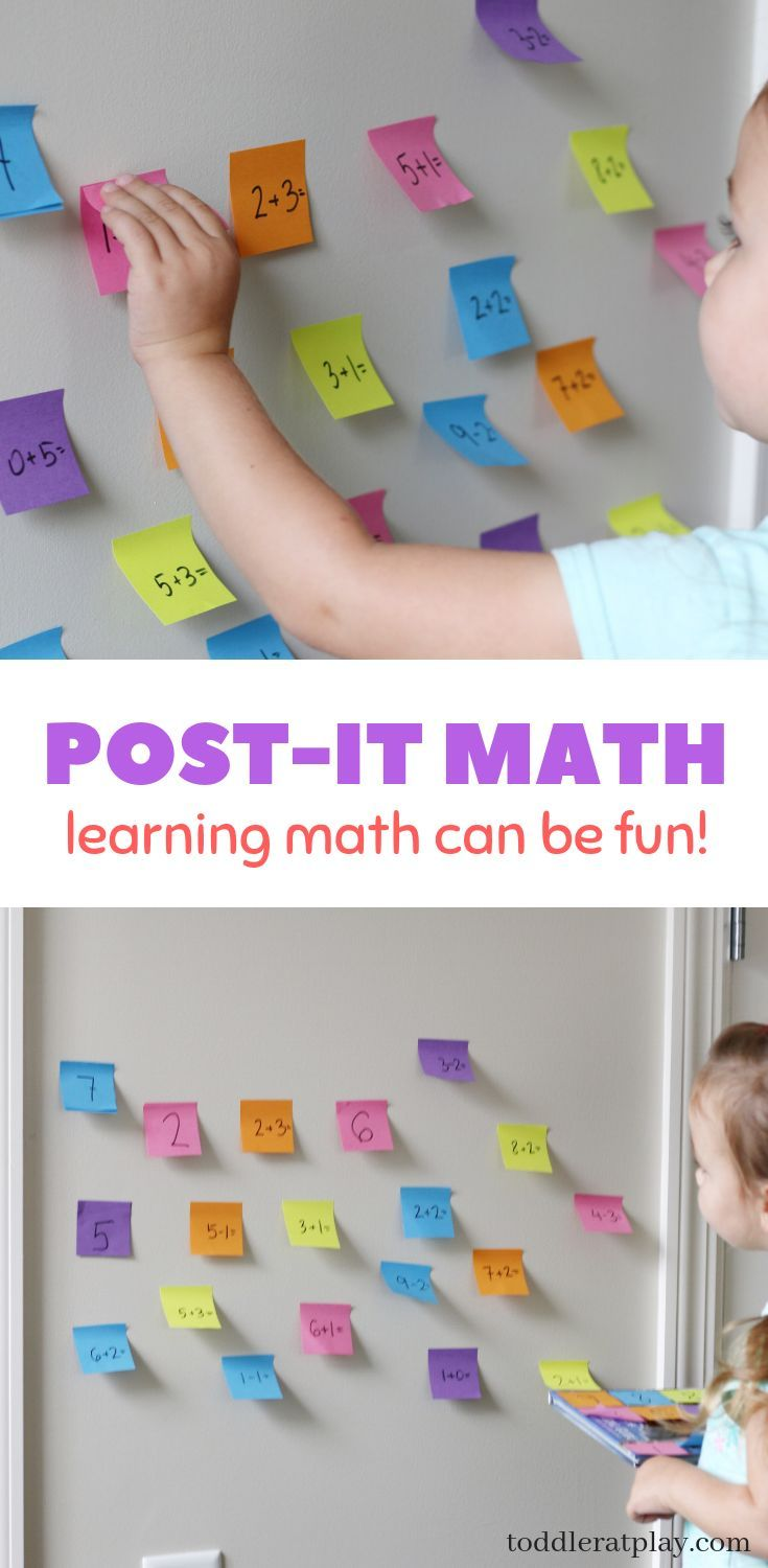 Post-It Math | Toddler Activities | Math games for kids ...