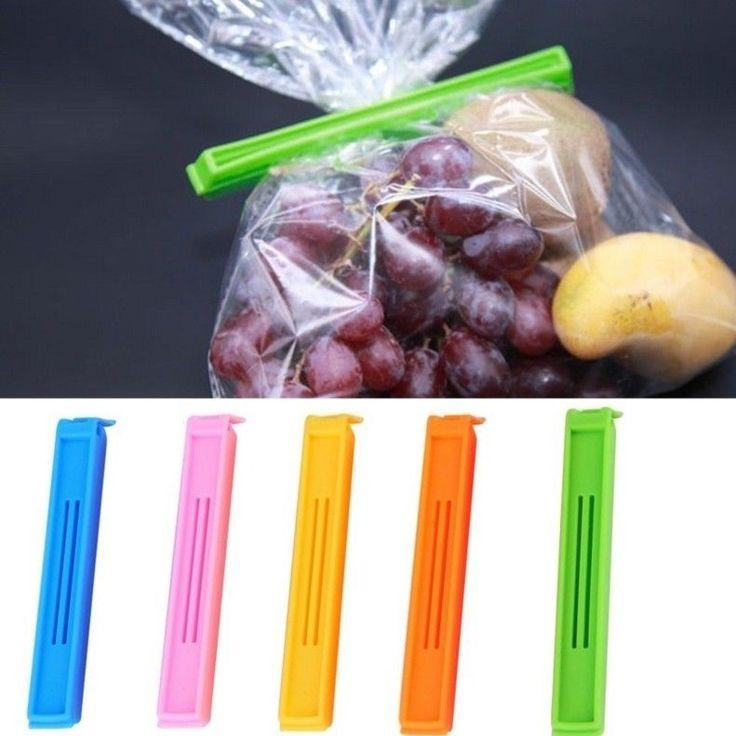 Freezer Bag Clips 5 PC Plastic Storage Food Fridge Sealing Pegs