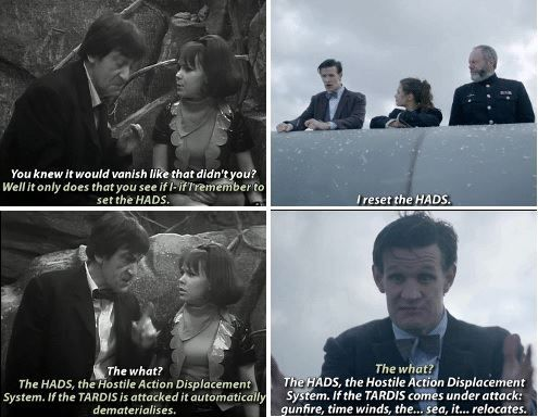 Another reason why Doctor Who is the best show ever - continuity. 50 years worth if continuity.