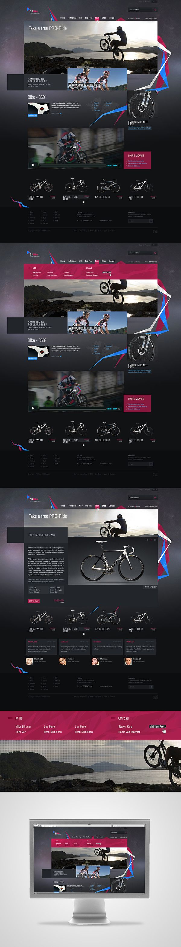 skbike webdesign, great contrast, shapes, photography and composition