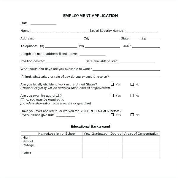 Membership Application Template Membership Application