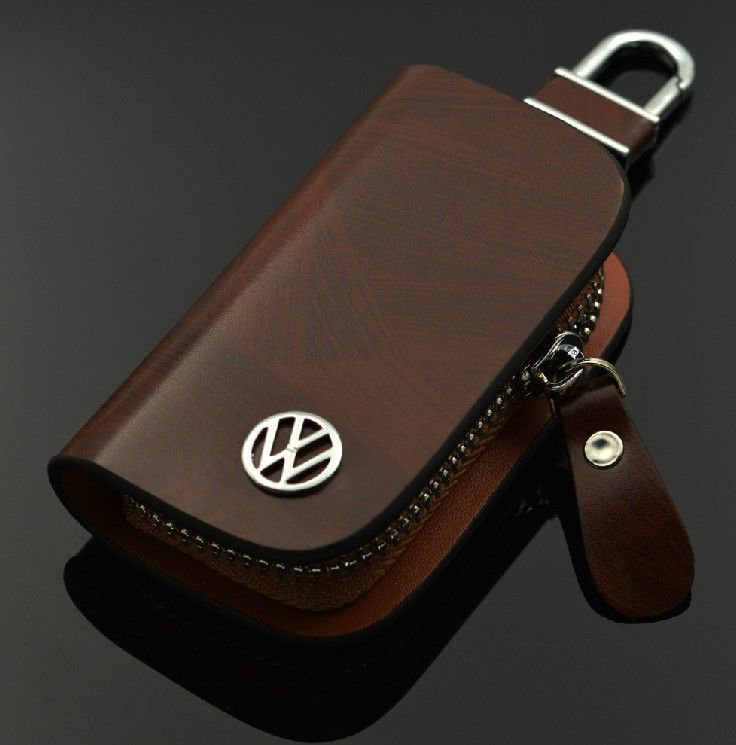 car leather key wallet  key case key bag car accessories for VW GTI VOLKSWAGEN Golf 6 7 Tiguan Passat CC Jetta MK4 MK6