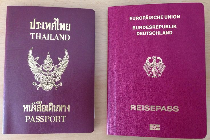 Thai Passport Deutscher Reisepass