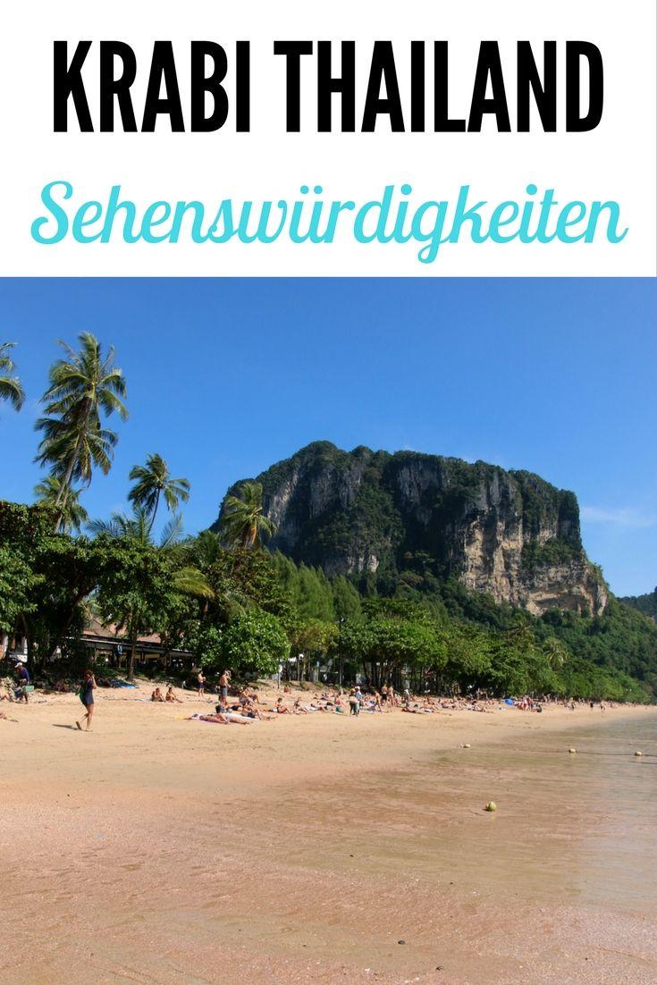 Krabi, Thailand: Hier könnt ihr Inselhopping unternehmen, schnorcheln, tauchen, klettern, Kajak fahren oder an einem Thai Kochkurs teilnehmen. Lest mehr im Artikel: Ao Nang & Railay Sehenswürdigkeiten, Strände & Hotel