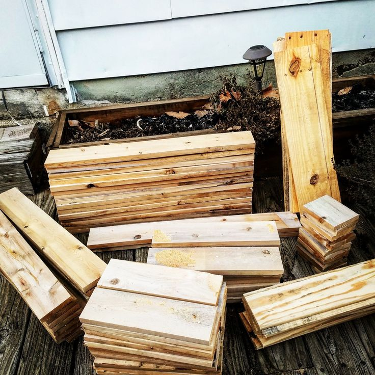 All this reclaimed wood is becoming some Smores bars and compost bins!