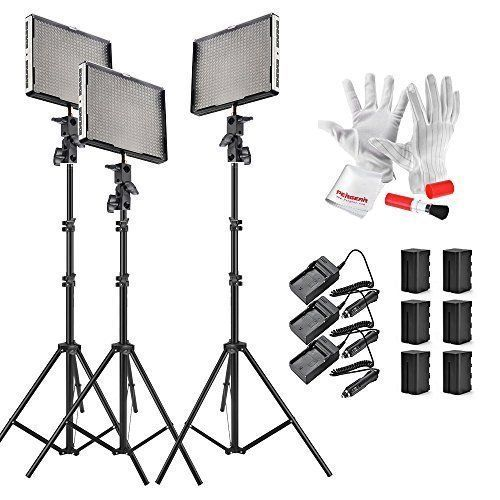Aputure Amaran AL-528Kit(AL-528C   AL-528W   AL-528S) 528 LED Video Light Panel Video Lighting Kit with Pergear Clean Kit * You can find out more details at the link of the image.