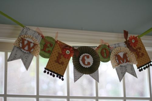 'Welcome' Thanksgiving banner   Jen Bowles Design