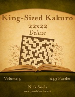 King-Sized Kakuro bundles the biggest and baddest Kakuro puzzles ever. Your brain will work overtime on these colossal logic math puzzles. Kakuro is a fun way for kids and adults to practice addition facts. Once you pick up this book, you won't be able to put it back down. You have been warned! #coloringartist