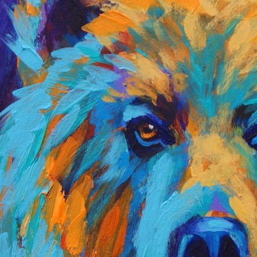 Abstract bear painting