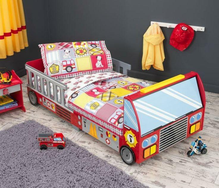 Jungenzimmer mitwachsendes Kinderbett Feuerwehrauto