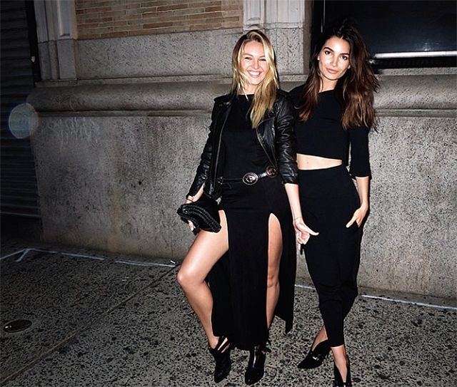 We die for Candice's style. #models #nightlife #CandiceSwanepoel