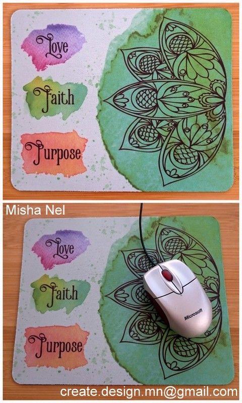 2016 Mousepad, Love Faith Purpose, Boho
