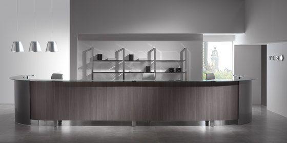 Concepto Free cromo teka ceniza cristal by Ofifran | Reception desks