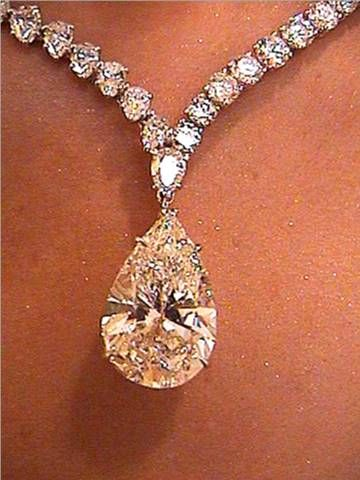 Pear shape champagne diamond.  Although I no longer buy diamonds...happy with a few I bought for myself.  Diamonds are related to deaths of mining workers.
