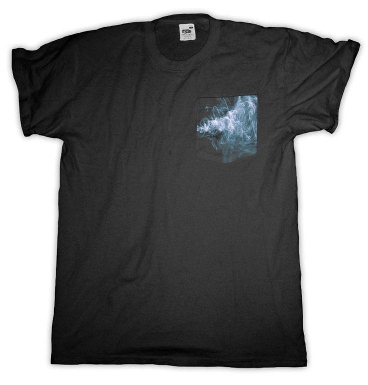Smoke Pocket T Shirt Black Men S - 2XL  #HailFridayCompagnie #PremiumTees