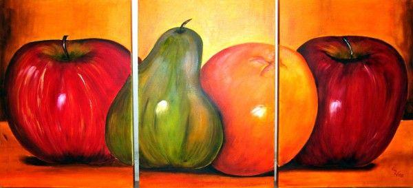 Cuadros modernos abstractos para comedor de frutas - Cuadros modernos para comedor ...