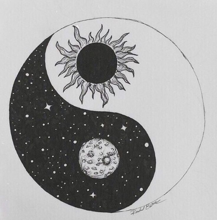 moon. sun. yin and yang.