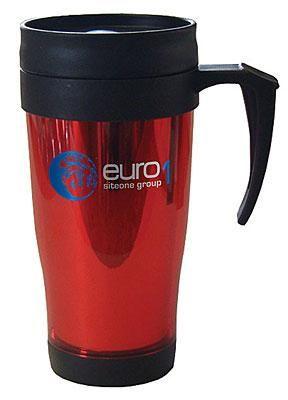Plastic inner & outer insulated mug