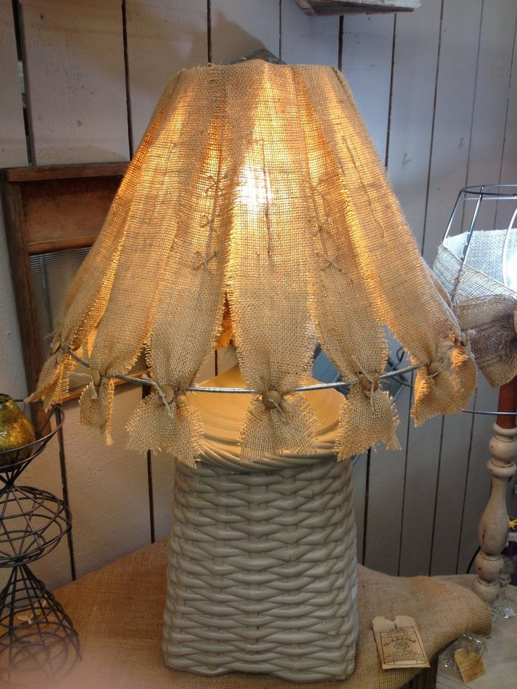 Burlap Lampshade Burlap Lampshade Let There Be Light
