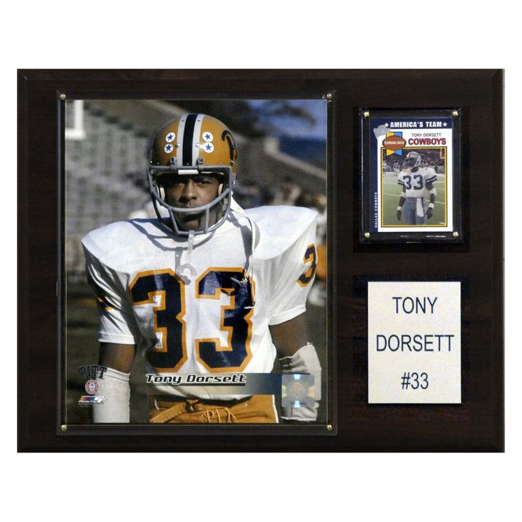 NCAA 12 x 15 in. Football Tony Dorsett Pittsburgh Panthers Player Plaque - 1215DORSETTC