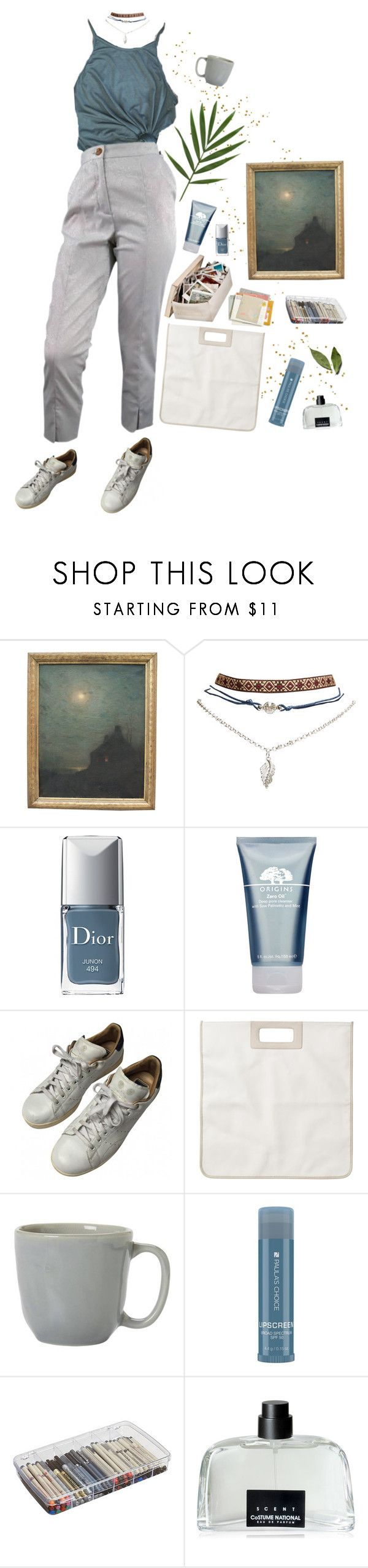 """19th Century"" by lsaroskyl ❤ liked on Polyvore featuring HARRISON, Wet Seal, Christian Dior, Origins, adidas, Monki, Juliska, Paula's Choice, ArtBin and COSTUME NATIONAL"