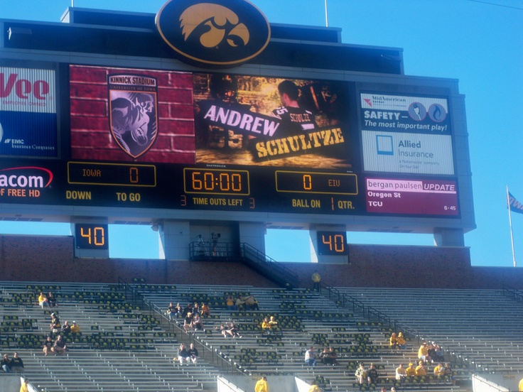Iowa against Eastern Illinois University. 2010-2011 football season. :)