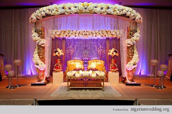 nigerian wedding sweet heart table ideas [blue/gold theme instead]—traditional wedding in america